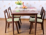 Hot Sale Black Walnut Solid Wood Modern Dining Table