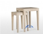white oak stool set
